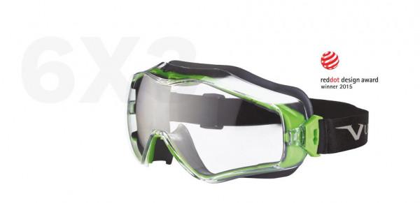 Vollsichtschutzbrille schwarz/grün