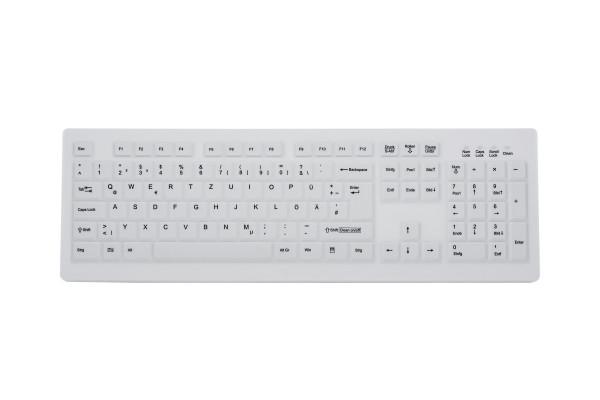 Funk-Silikontastatur, weiß, reinraumgeeignet TKG-105-RF-KG