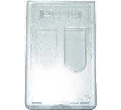Kartenhalter für Werksausweis Doppelbox mit Daumengriff