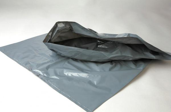 LDPE-Sack grau, 590 x 730mm 60 L, Pak=100 St., KAR=5 Pak
