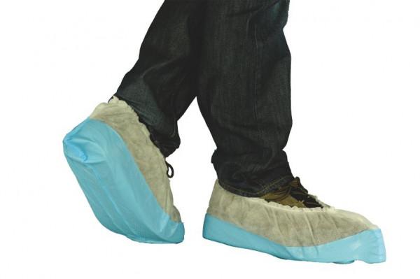 Einmal-Schuhe, weiß/blau