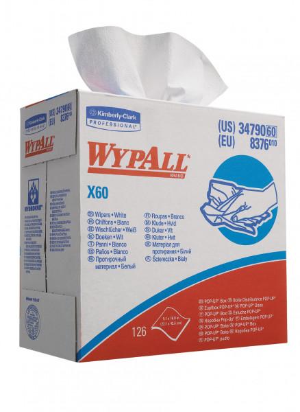 Kimberly-Clark Wypall X60 Wischtücher, Zupfbox 126 Tücher