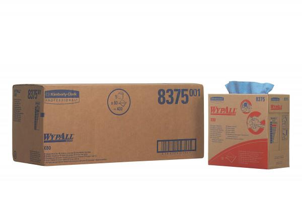 Kimberly-Clark Wischtuch Wypall X80, Stahlblau