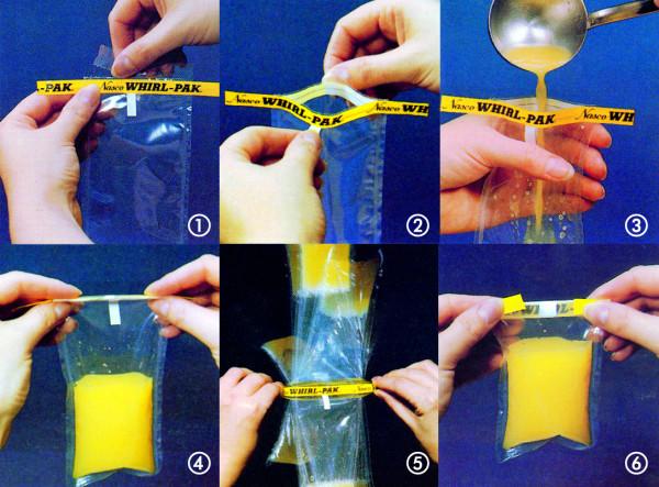 Probenbeutel für Flüssigkeiten mit Beschriftungsfeld