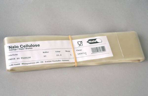 Nalo Cellulose-DialyseSchlauch Größe 40, matt, Rolle = 25 m