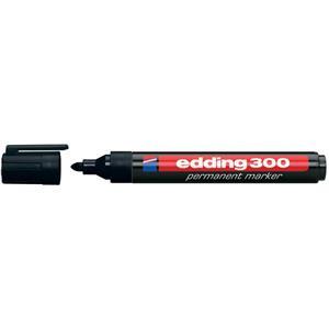 Permanentmarker Edding 300 mit Rundspitze, schwarz