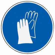 """Gebotschild """"Handschuhe tragen"""" selbstklebend"""