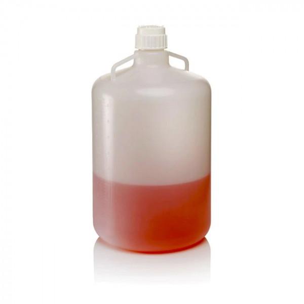 Ballonflasche PP mit Henkel 10-50 L autoklavierbar ohne Ablasshahn Nalgene