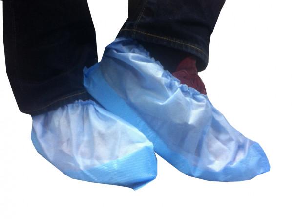 Einmal-Schuhe, blau, extra hoch