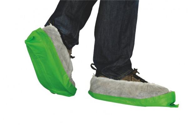 Einmal-Schuhe, weiß/grün