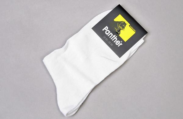 OP Socken mit Rippe, weiß