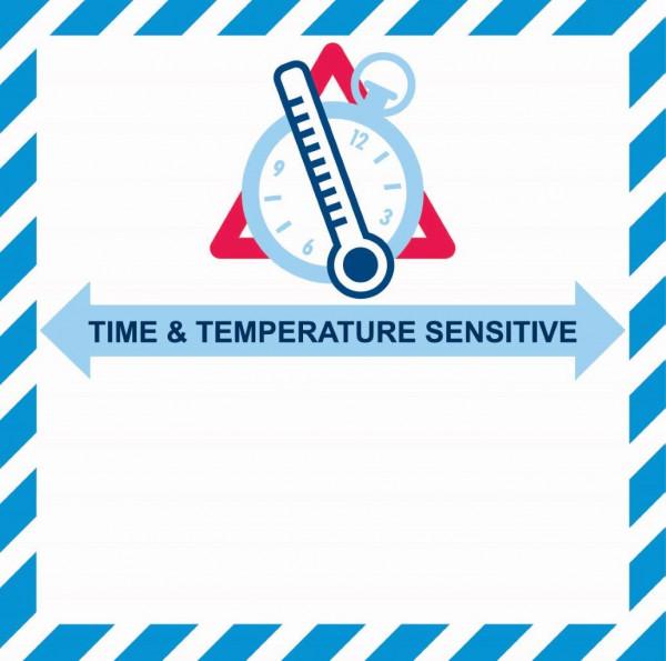 Etikett Time & Temperature